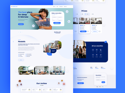 Hostels - One Page Design Wordpress booking design booking hostels design ui design landing page themeforest wordpress onepage hostel