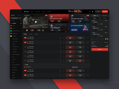 Esport Game Dashboard dota2 csgo sport game dashboard e-sport dexim betconstruct gambling dashboard esport esports game dashboard