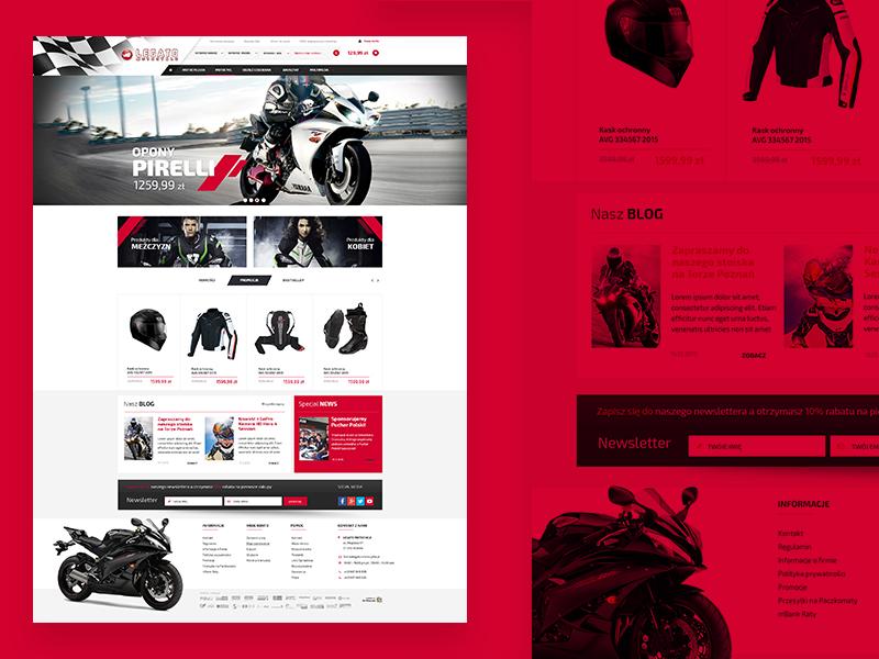 Motorcycle Shop ecommerce