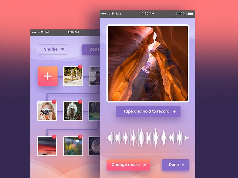iphone app2 ui  ux creative  design color iphone app dexim