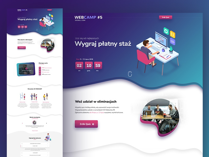 Isometric onepage corporate web design onepage dexim