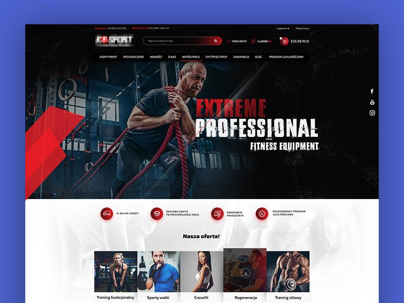 Sport Shop themeforest portal ecommerce webdesign dexim ux ui design sport