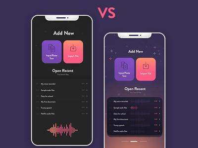 Speech app dashboard ui  ux creative  design color iphone app dexim