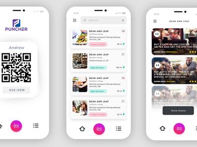 Puncher App color design poland ecommerce iphone app ui  ux dexim
