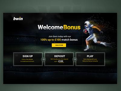bwin welcome bonus page poland creative  design app ui  ux ecommerce dexim