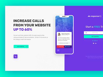 Response Get Started page poland dexim iphone webdesign creative  design ui  ux ecommerce