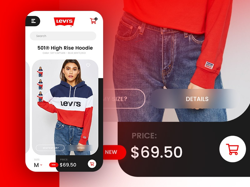 Levi's® app redesign ecommerce ui  ux iphone store app redesign concept app redesign app  design levis