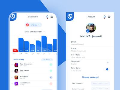 Music iphone App ui ecommerce poland dexim iphone app design ui  ux