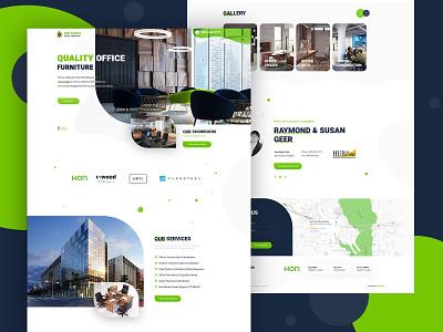 🐢 SunTurtle Office Furniture ui designer uidesign landing page color ui  ux design creative  design seahawk dexim