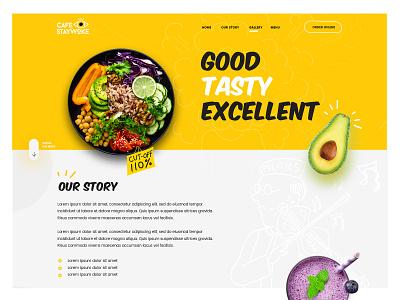 Cafe Stay Woke design webdesign ecommerce dexim creative  design