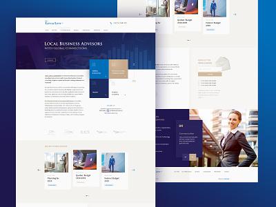 Levi & Levi finance landing page design landing page website ui design dexim design
