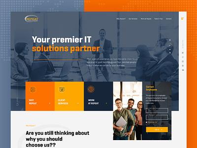 Consultancy Recruitment Firm Website Mockup onepage website design layout landing page design color dexim