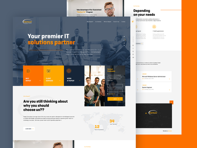 Consultancy Recruitment Firm Website Mockup