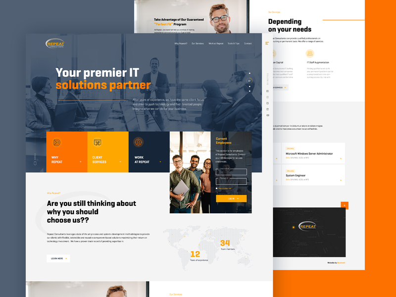 Consultancy Recruitment Firm Website Mockup website mockup recruitment landing page design design creative  design ecommerce dexim