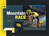 Racing Bike Accessories Ecommerce Site Mockup
