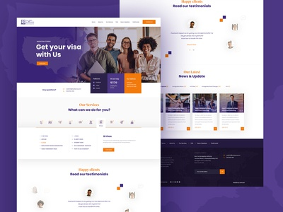 Website Design for Immigration Lawyer Attorney