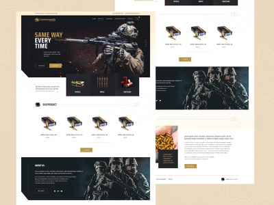 Ammunition Supplier Manufacturer Web Design Mockup wordpress design wordpress theme magento theme ui  ux ecommerce dexim