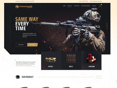 Ammunition Supplier Manufacturer Web Design Mockup wordpress design wordpress theme magento theme ui  ux ecommerce dexim