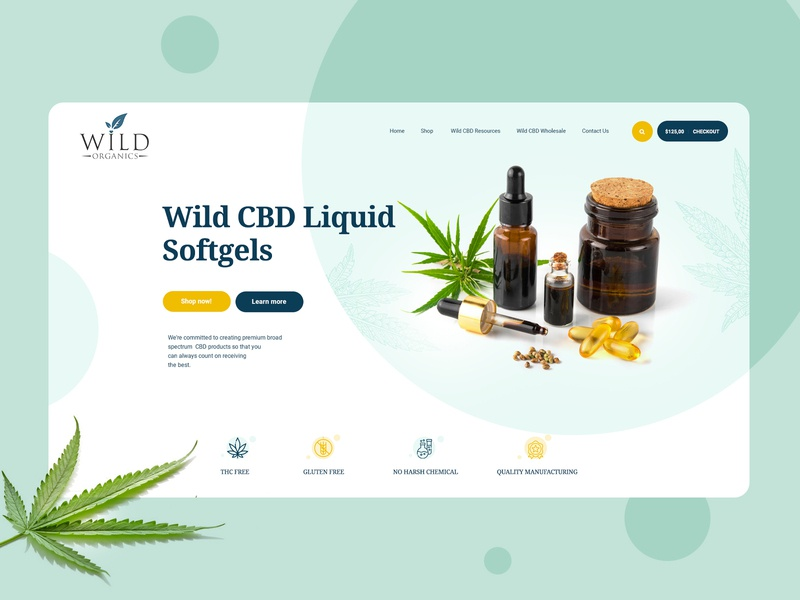 CBD Oil Ecommerce Website Design Mockup wordpress designer wordpress designer wordpress magento 2 wordpress theme dexim ecommerce