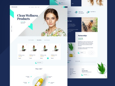 CBD marketing company web mock-up webdesign one page wordpress theme wordpress design themes wordpress poland magento designer ecommerce design ecommerce dexim designer