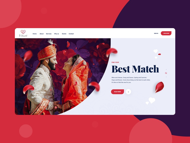 Match Making Dating Site Website Design Mockup product designer webdesigner magento theme wordpress designer dexim magento design