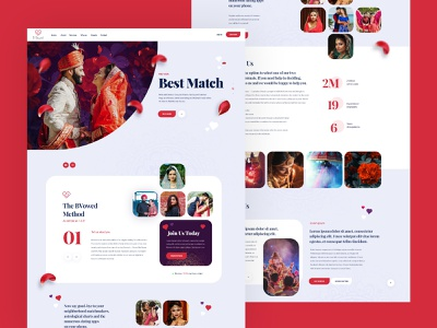 Match Making Dating Site Website Design Mockup onepage landing page poland webdesign design themeforest color ui  ux creative  design ecommerce