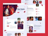 Match Making Dating Site Website Design Mockup