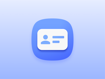 Attribouter - Product Icon contact cards cards contacts contact adaptive icons adaptive icon icon android iconography material design