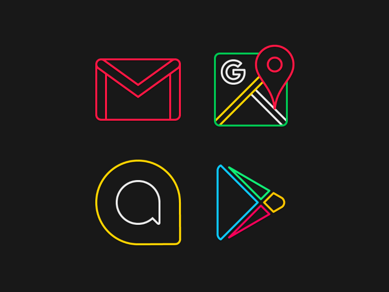 Google on Neon by Kevin Aguilar on Dribbble