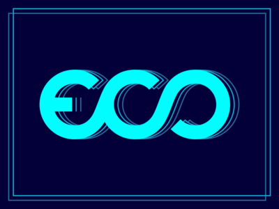 Eco (Echo) infinity repetition logo logotype eco echo