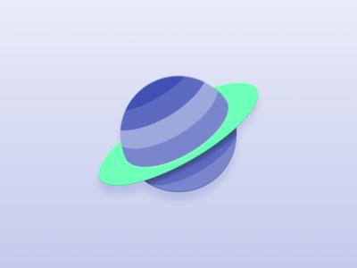 Spacious android app google design material design saturn space icons icon design