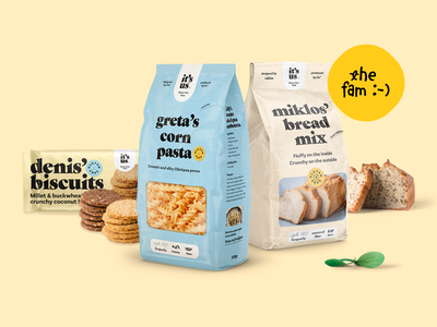 It's us rebrand & packaging typography logo craft strategy naming food pasta bread packaging branding