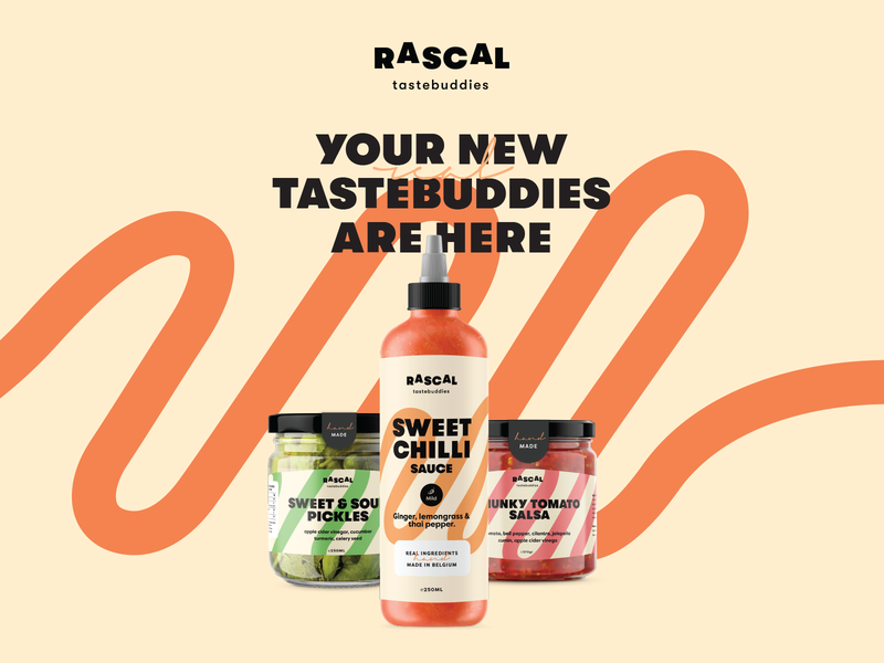 Rascal - tastebuddies food app brand strategy branding strategy packaging food