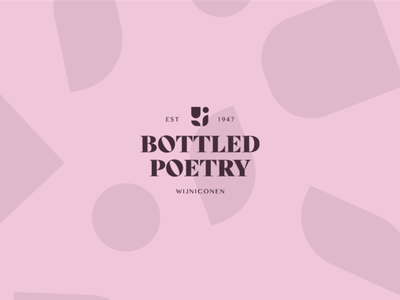 Bottled poetry identity typography branding