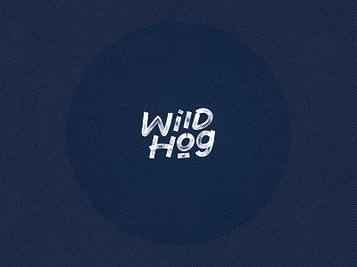 Wild hog - handlettered logo logo design branding music grunge lettering logo