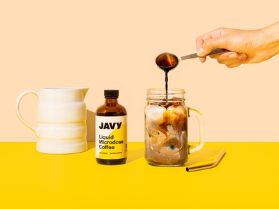 Javy Coffee bottle coffee typography branding and identity packaging branding