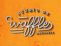 Waffles lettering and logo