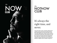 Brand exploration 'the Now club'