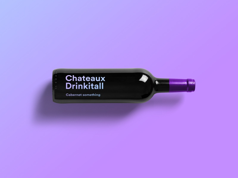 Chateaux Drinkitall label typography wine packaging chateaux