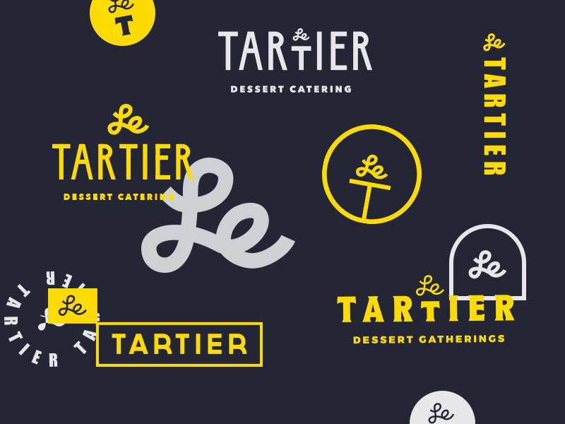 Tartier logo direction lettering typography handlettering bakery cake artisanal branding identity mark logotype logo