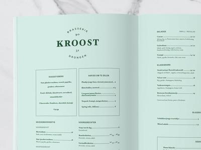 Logo and menu-design Kroost