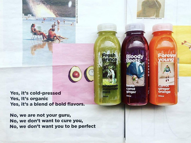 The Juicery brand strategy manifesto packaging juice brand
