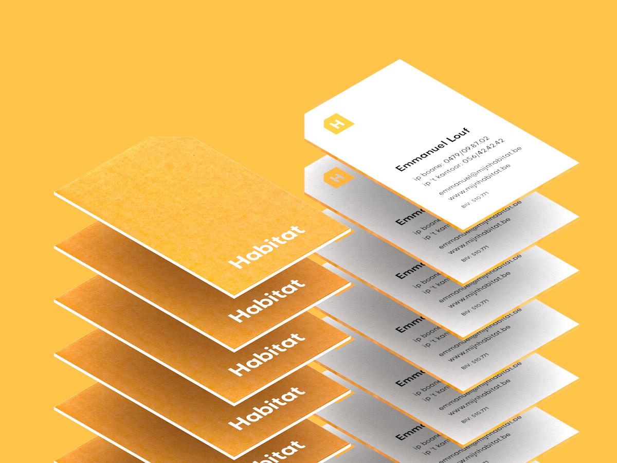 Habitat Cards stationary business cards orange design typography branding logo
