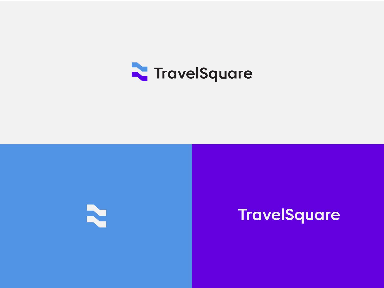 Travelsquare travel identity typography branding logotype logo