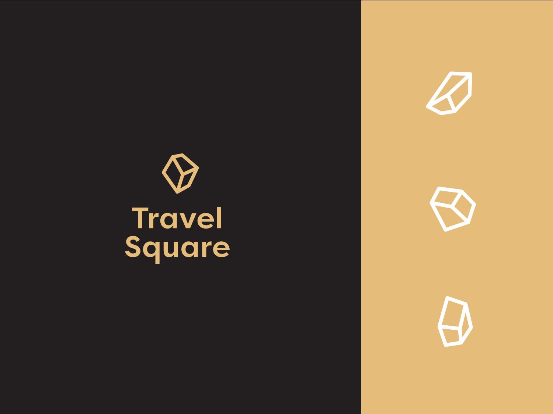 Travelsquare v2 brand design identity typography branding logo
