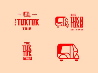 Tuk Tuk trip asian type design identity typography branding logo