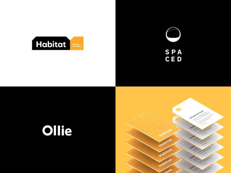 2018 top 4 orange logo typography design