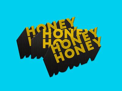 Honey Honey logo identity typography branding logo