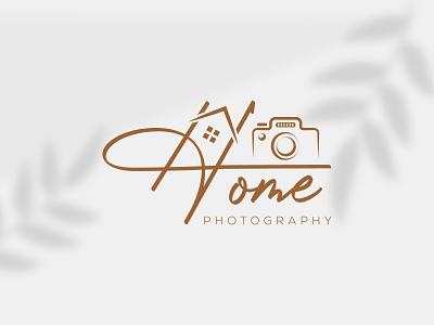 Real estate, home photography signature logo design template emblem creative home logo