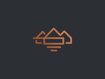 Operatyw mark home house logo line letter o luxury branding mark logotype